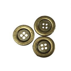 Botão de Metal 1,9cm BE-01 Ouro Velho - com 3 unidades