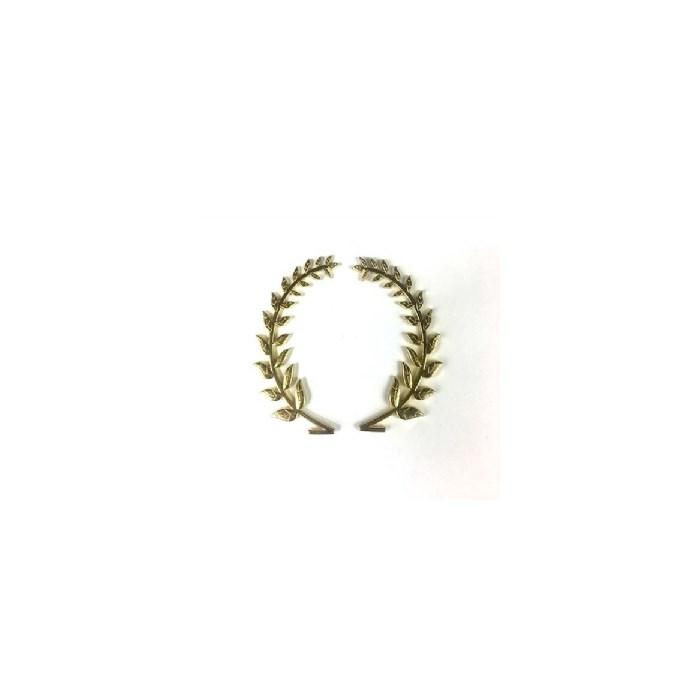 Brasão Coroa de Louro Dourado BCL02 - com 2 unidades