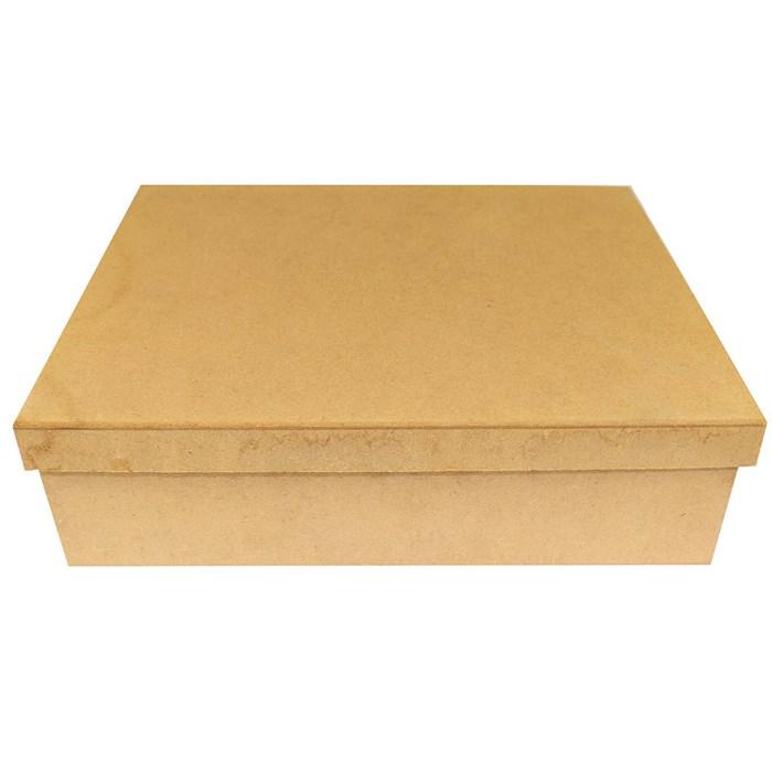 Caixa de Madeira Retangular 33x24x10cm MDF-08