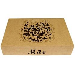 Caixa Mãe Te Amo 26x17cm MDF-86