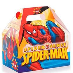 Caixa Maleta Kids - Spider Man 12x12x8cm - com 10 unidades