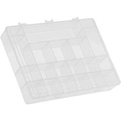 Caixa Organizadora 21 Divisórias 30X18 CM- Transparente