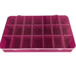 Caixa Organizadora  21 Divisórias  3X18 CM - Pink