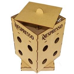 Caixa para Cápsula Nespresso 14x14x23cm MDF-54 - 16 cápsulas