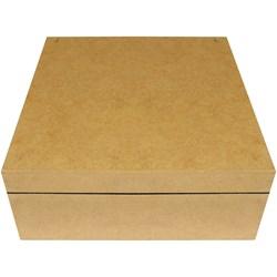 Caixa para Relógios Aveludada 23x23x9cm MDF-66 - 9 Divisórias