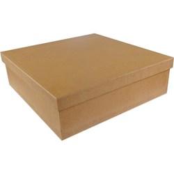 Caixa Quadrada 30X30x10cm Tampa Sapato MDF-01