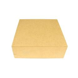 Caixa Quadrada com Dobradiça 25x25x8cm MDF-20