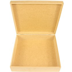 Caixa Quadrada com Dobradiça 30x30x8cm MDF-21