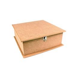 Caixa Quadrada Dodradiça  30x30x10cm MDF-06