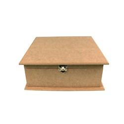 Caixa Quadrada Dodradiça com fecho 30x30x10cm MDF-06
