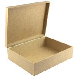 Caixa Retangular com Dobradiça 30X20X10 cm - MDF -135