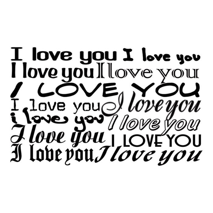 Carimbo Arte Fácil CA-339 I Love You