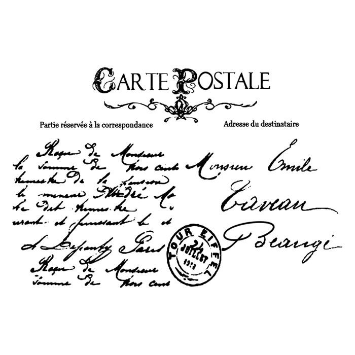 Carimbo Arte Fácil CA-618 Carta Postal