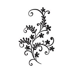 Carimbo Arte Fácil CA-656 Arabesco Flores