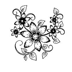 Carimbo Arte Fácil CA-694 Fácil Flores