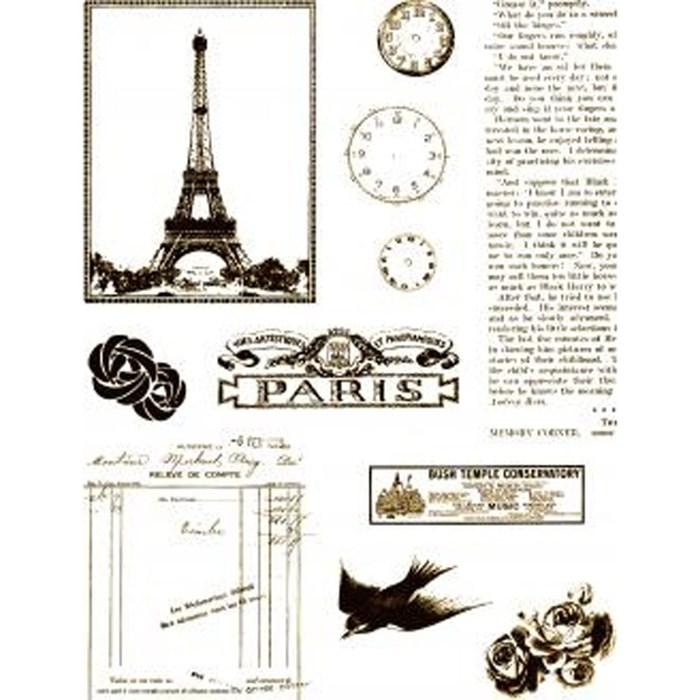 Carimbo de Silicone II 12237 (CAS127) Paris com Texto