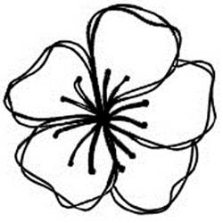 Carimbo Dona Arteira 1740 Flor