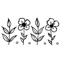 Carimbo Dona Arteira 1866 Flores