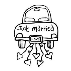 Carimbo Dona Arteira 435 Just Married