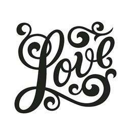Carimbo Litoarte CPL-115 LOVE Arabesco