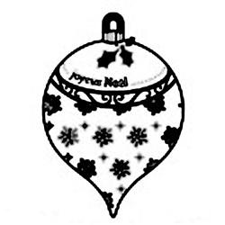 Carimbo Loucas por Caixas 3992 Bola de Natal