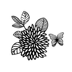 Carimbo Loucas por Caixas LC002 Flor e Borboleta G