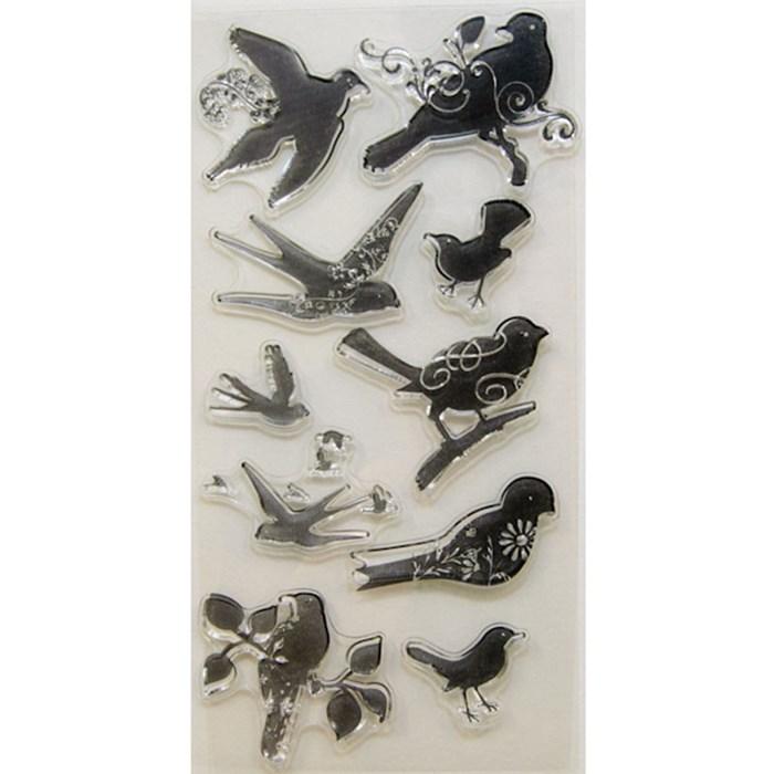 Carimbo Pássaros Stamp For Scrapbook