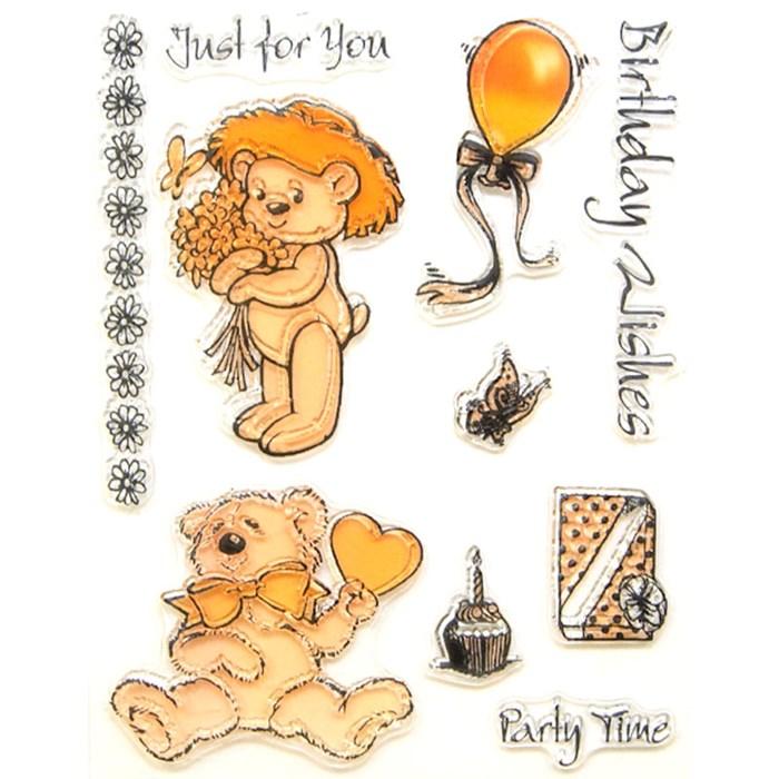 Carimbo Urso Stamp For Scrapbook