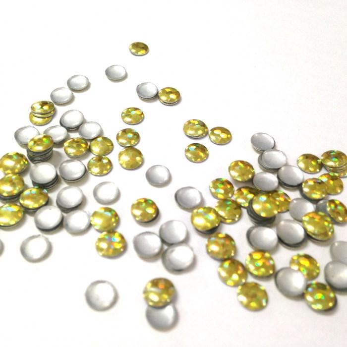 Chapinha Redonda Ouro 4mm GS051 - 2 gramas