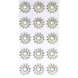 Chaton Adesivo Flor 30mm CAF30 Cristal