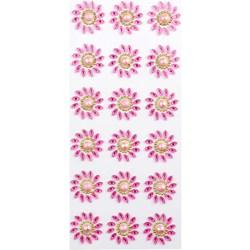 Chaton Adesivo Flor 30mm CAF30 Rosa