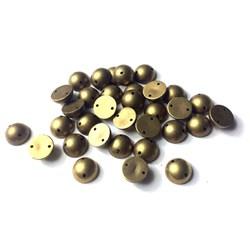 Chaton Arredondado 10mm Ouro Velho - 10grs