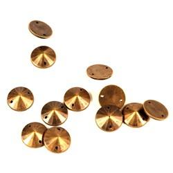 Chaton Cônico 10mm Ouro Velho - 10 GRS