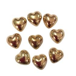 Chaton Coração sem Furo 12MM com 10 Gramas - Ouro