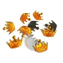 Chaton Coroa G 2,0x1,3cm CT56 Amarelo - com 10 unidades