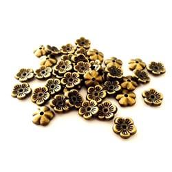 Chaton Flor 10mm Ouro Velho - 10grs