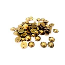 Chaton Lapidado 10mm Ouro Velho - 10grs