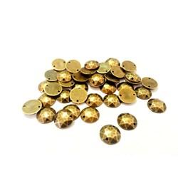 Chaton Lapidado 12mm Ouro Velho - 10grs
