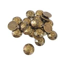 Chaton Lapidado 14mm Ouro Velho - 10grs