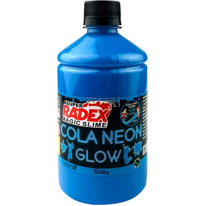 Cola Neon para Slime 500g REF.7306 Azul