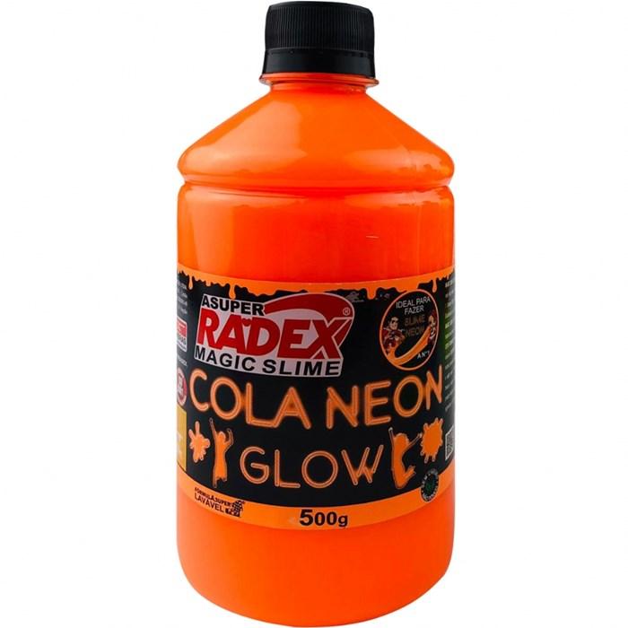 Cola Neon para Slime 500g REF.7307 Laranja