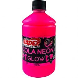 Cola Neon para Slime 500g REF.7308 Rosa