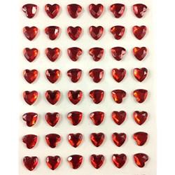 Coração Adesivo 8mm CSA8 Vermelho
