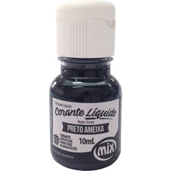 Corante Alimentício Líquido p/ Confeitaria 10mL Mix - Preto Ameixa