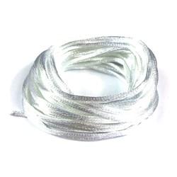 Cordão de Cetim Branco CC004 - com 5 metros