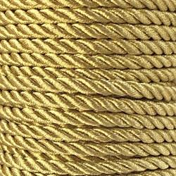 Cordão São Francisco Metálico 4mm Dourado - rolo com 20 metros