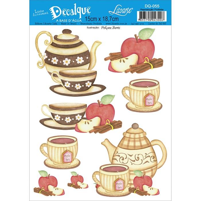Decalque DQ-055 Chá de Maça