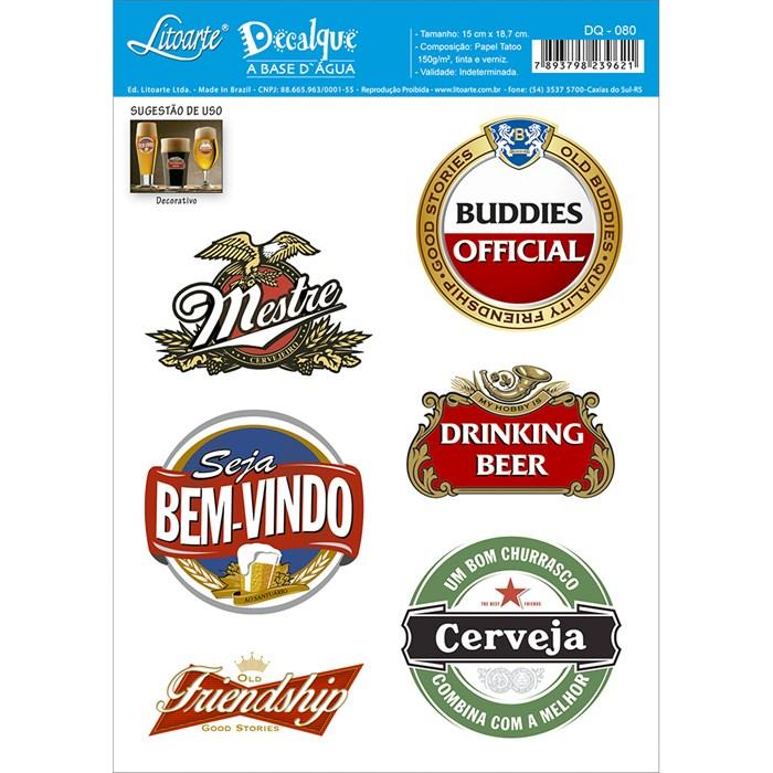 Decalque DQ-080 Cervejas