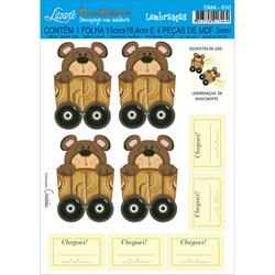 Deco Madeira Apliques Litoarte DMA-010 Urso