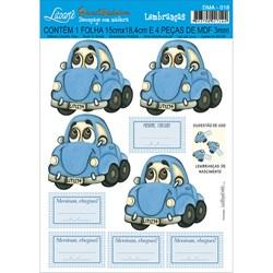 Deco Madeira Apliques Litoarte DMA-018 Fusca Azul
